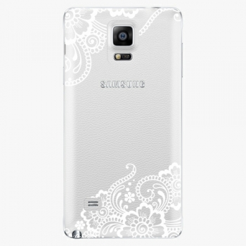 Plastový kryt iSaprio - White Lace 02 - Samsung Galaxy Note 4