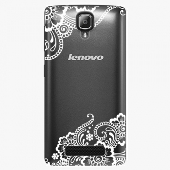 Plastový kryt iSaprio - White Lace 02 - Lenovo A1000