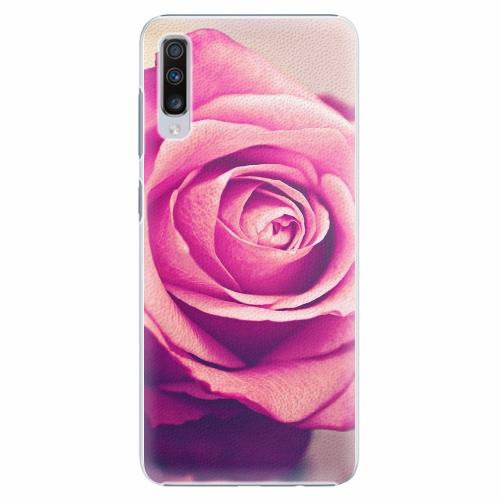 Plastový kryt iSaprio - Pink Rose - Samsung Galaxy A70
