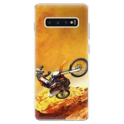 Plastový kryt iSaprio - Motocross - Samsung Galaxy S10+