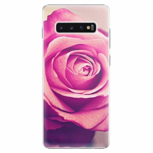 Plastový kryt iSaprio - Pink Rose - Samsung Galaxy S10+
