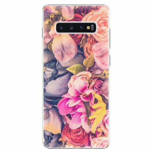 Plastový kryt iSaprio - Beauty Flowers - Samsung Galaxy S10+