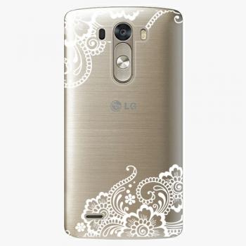 Plastový kryt iSaprio - White Lace 02 - LG G3 (D855)