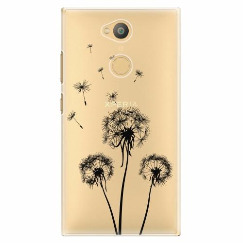 Plastový kryt iSaprio - Three Dandelions - black - Sony Xperia L2