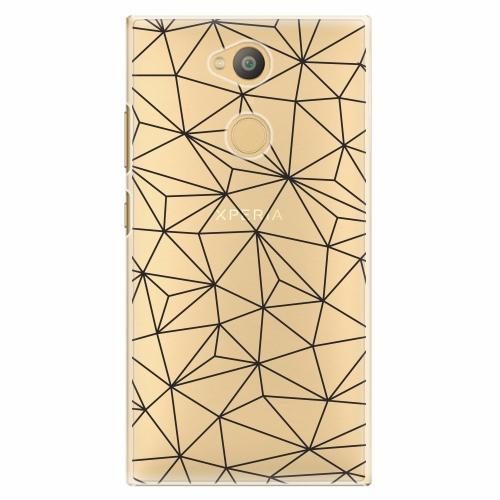 Plastový kryt iSaprio - Abstract Triangles 03 - black - Sony Xperia L2