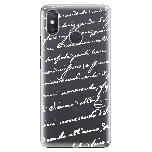 Plastový kryt iSaprio - Handwriting 01 - white - Xiaomi Mi Max 3