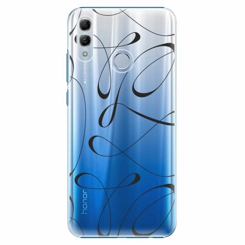 Plastový kryt iSaprio - Fancy - black - Huawei Honor 10 Lite
