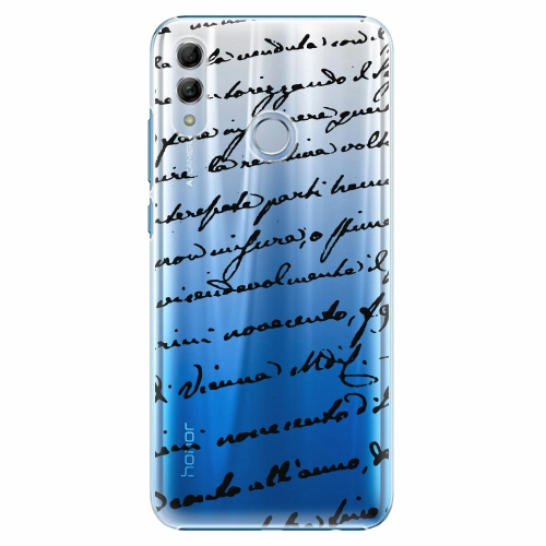 Plastový kryt iSaprio - Handwriting 01 - black - Huawei Honor 10 Lite