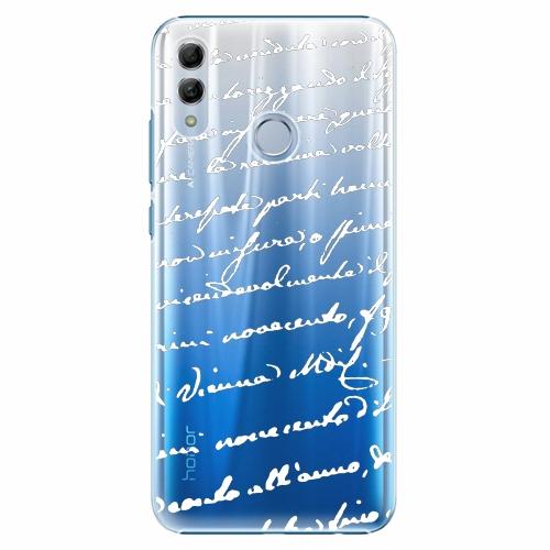Plastový kryt iSaprio - Handwriting 01 - white - Huawei Honor 10 Lite