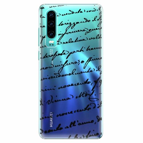 Plastový kryt iSaprio - Handwriting 01 - black - Huawei P30