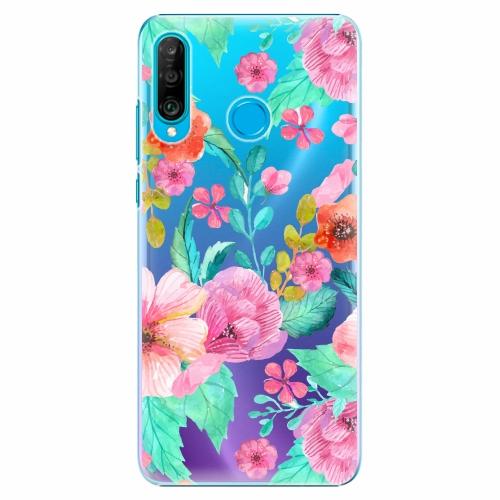 Plastový kryt iSaprio - Flower Pattern 01 - Huawei P30 Lite
