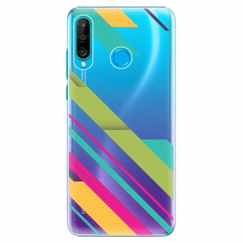 Plastový kryt iSaprio - Color Stripes 03 - Huawei P30 Lite