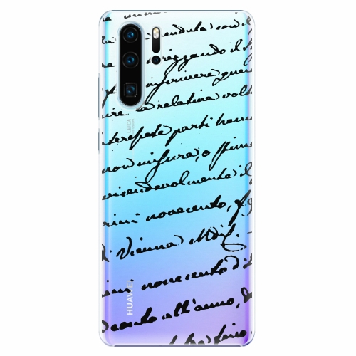 Plastový kryt iSaprio - Handwriting 01 - black - Huawei P30 Pro