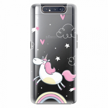 Plastový kryt iSaprio - Unicorn 01 - Samsung Galaxy A80