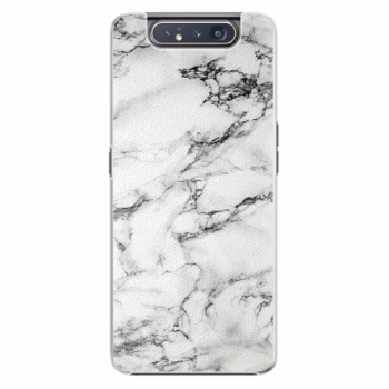 Plastový kryt iSaprio - White Marble 01 - Samsung Galaxy A80