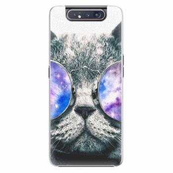 Plastový kryt iSaprio - Galaxy Cat - Samsung Galaxy A80