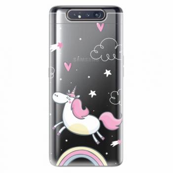 Silikonové pouzdro iSaprio - Unicorn 01 - Samsung Galaxy A80