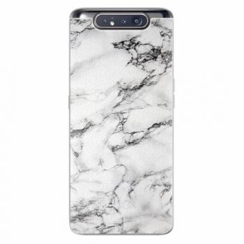 Silikonové pouzdro iSaprio - White Marble 01 - Samsung Galaxy A80