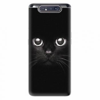 Silikonové pouzdro iSaprio - Black Cat - Samsung Galaxy A80