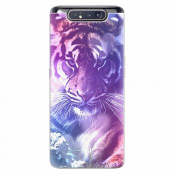 Silikonové pouzdro iSaprio - Purple Tiger - Samsung Galaxy A80