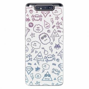 Silikonové pouzdro iSaprio - Funny Clouds - Samsung Galaxy A80