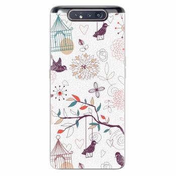 Silikonové pouzdro iSaprio - Birds - Samsung Galaxy A80