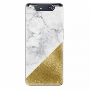 Silikonové pouzdro iSaprio - Gold and WH Marble - Samsung Galaxy A80
