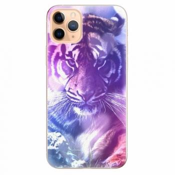 Silikonové pouzdro iSaprio - Purple Tiger - iPhone 11 Pro Max