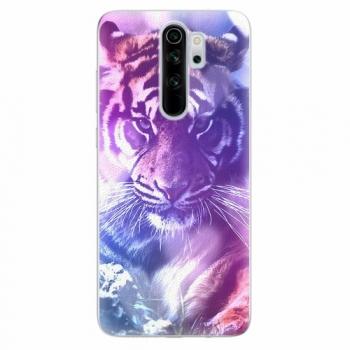 Silikonové pouzdro iSaprio - Purple Tiger - Xiaomi Redmi Note 8 Pro