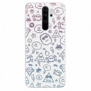 Silikonové pouzdro iSaprio - Funny Clouds - Xiaomi Redmi Note 8 Pro