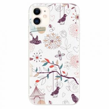 Silikonové pouzdro iSaprio - Birds - iPhone 11