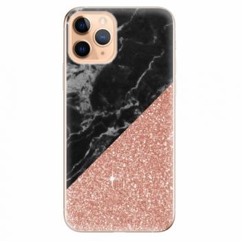 Silikonové pouzdro iSaprio - Rose and Black Marble - iPhone 11 Pro