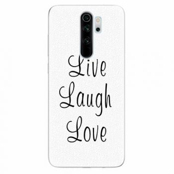 Silikonové pouzdro iSaprio - Live Laugh Love - Xiaomi Redmi Note 8 Pro