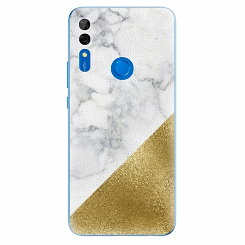 Silikonové pouzdro iSaprio - Gold and WH Marble - Huawei P Smart Z