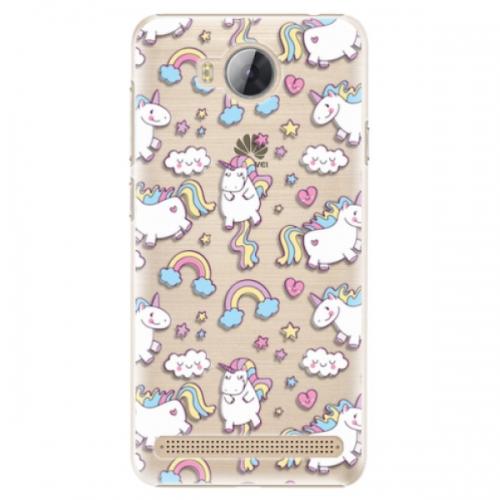 Plastové pouzdro iSaprio - Unicorn pattern 02 - Huawei Y3 II