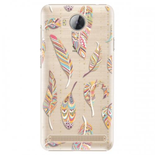 Plastové pouzdro iSaprio - Feather pattern 02 - Huawei Y3 II