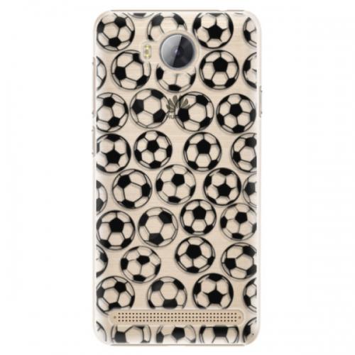 Plastové pouzdro iSaprio - Football pattern - black - Huawei Y3 II