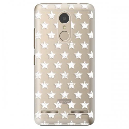 Plastové pouzdro iSaprio - Stars Pattern - white - Lenovo K6