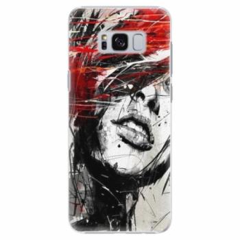 Plastové pouzdro iSaprio - Sketch Face - Samsung Galaxy S8