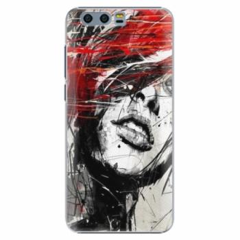 Plastové pouzdro iSaprio - Sketch Face - Huawei Honor 9