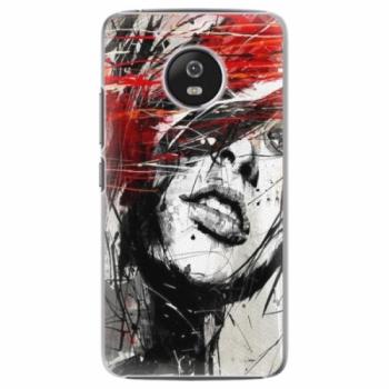 Plastové pouzdro iSaprio - Sketch Face - Lenovo Moto G5