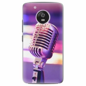 Plastové pouzdro iSaprio - Vintage Microphone - Lenovo Moto G5