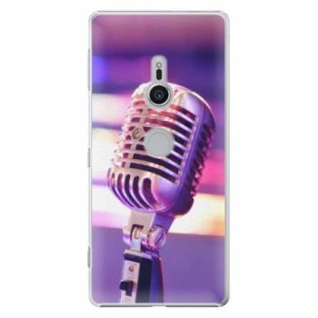 Plastové pouzdro iSaprio - Vintage Microphone - Sony Xperia XZ2