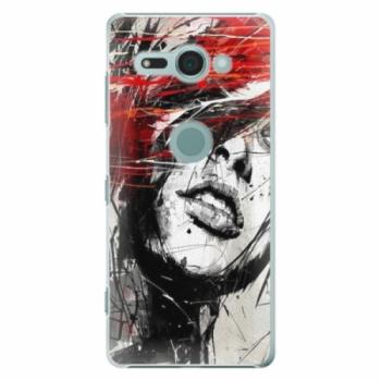 Plastové pouzdro iSaprio - Sketch Face - Sony Xperia XZ2 Compact