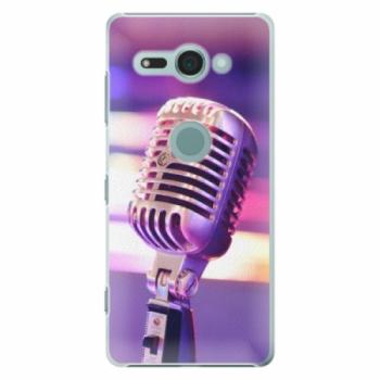 Plastové pouzdro iSaprio - Vintage Microphone - Sony Xperia XZ2 Compact