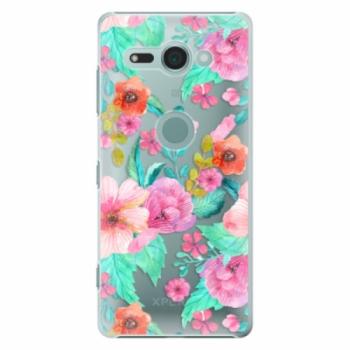 Plastové pouzdro iSaprio - Flower Pattern 01 - Sony Xperia XZ2 Compact