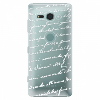 Plastové pouzdro iSaprio - Handwriting 01 - white - Sony Xperia XZ2 Compact