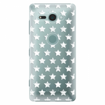 Plastové pouzdro iSaprio - Stars Pattern - white - Sony Xperia XZ2 Compact