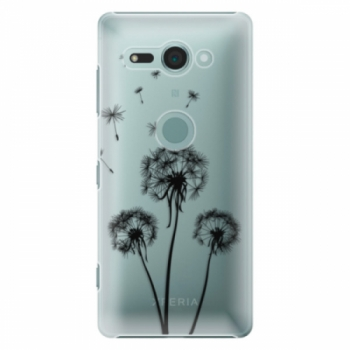 Plastové pouzdro iSaprio - Three Dandelions - black - Sony Xperia XZ2 Compact
