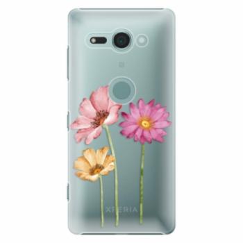 Plastové pouzdro iSaprio - Three Flowers - Sony Xperia XZ2 Compact